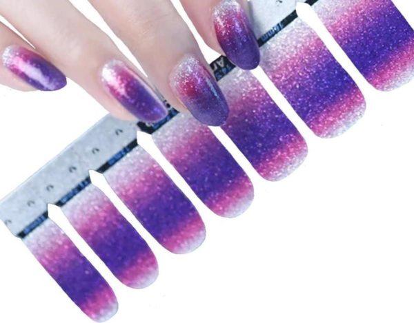 "● Nail wraps ● ""Multiplaza"" Paars/Roze/Zilver - nail patch - nagellakstickers - nagelstrips - siernaden - nail art - manicure - nagelstickers"
