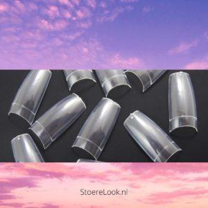 ✔️ Nagel Tips - Kort Opzetstukje - Clear Doorzichtig Transparant - 500 stuks - Acrylnagels - Gelnagels