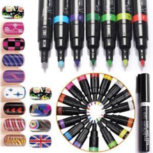 1 Nail Art Pen Groen 7ml - Nagelversiering - Make-up - Nagel Tekening - Nagelversiering - Nagellak - Nagels Kleuren Verven