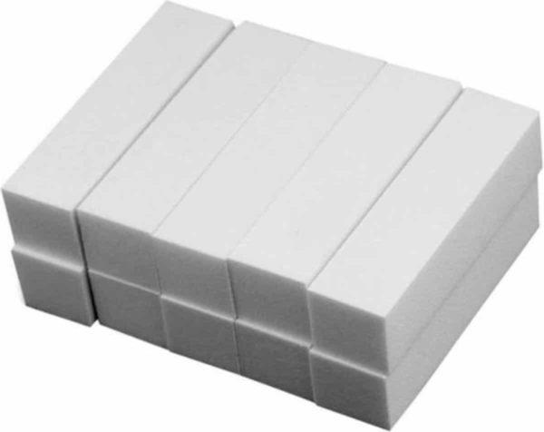 10 x White block voor nagels - bufferblock nagelvijlen, blokvijl nagels