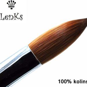 100% Kolinsky Ovale acrylpenseel German Quality Maat 10