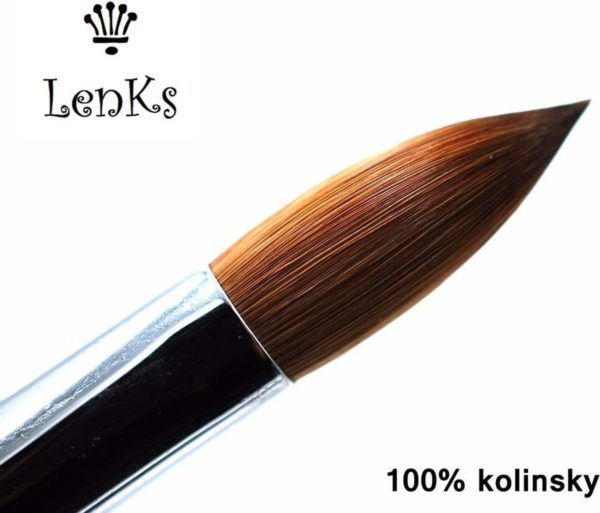 100% Kolinsky Ovale acrylpenseel German Quality Maat 6