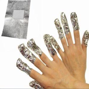 100 Stuks Gellak Remover Pads Aluminiumfolie / Gel Nagel Lak Nagellak Verwijderaar / Soak Off Remove Verwijderen