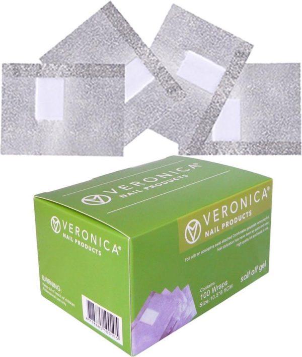 100 stuks soak off nagelfolie - aluminium voor het verwijderen van Gel lak