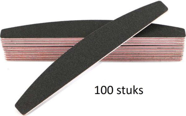 100x Professionele EVA nagelvijlen | 100/180 Grit Met Rode Kern | 100 stuks