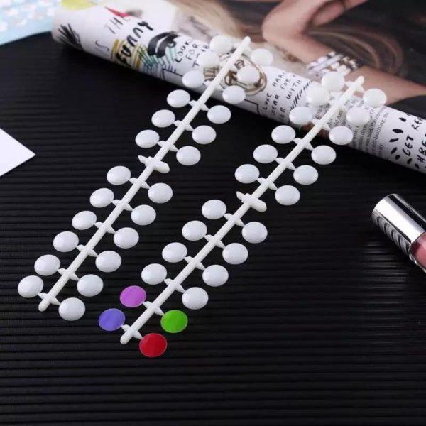 120 tips Nagel Display - Nail Art Test Set inclusief stickers - Kunstnagel Acryllak Gellak Kleuren Waaier - nagellak markering- wit / transparant
