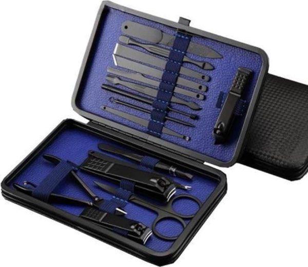 16 in 1 nagelknipper Nail Art Manicure Pedicure Tool (blauw)-Blauw