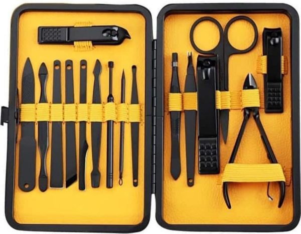 16 in 1 nagelknipper Nail Art Manicure Pedicure Tool (geel)-Geel