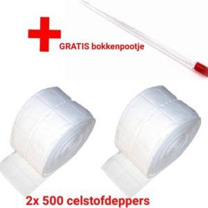 2 rollen Celstofdeppers - 12 lagen - Zeletten - De goede kwaliteit - Lohmann & Rausher - shellac - gellak - nagels - nails - kunstnagels- nepnagels - soakoff- gelpolish- remover- verwijderen - tips - nagel - nagelriemen