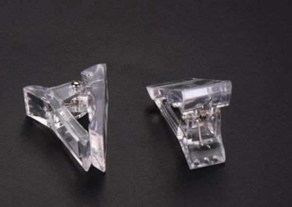2 stuks - polygel - nagel klem - dual form klem - transparant - acryl - gel - polygel nagels - nail art