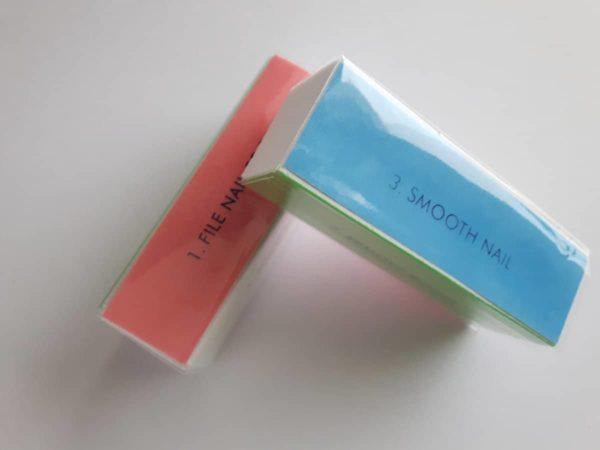2 x Buffer nagelvijl - 4 way vijl voor nagels - Blockvijl voor nagels - Glans block vijl voor nagels - Glansblock vijl nagels