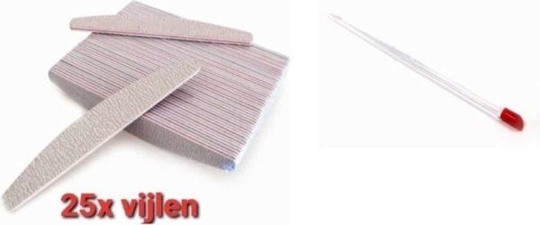 25 stuks - Nagel Vijlen - 100 / 180 GRIT - Kunstnagels - boomerang Vijl - banaan - High Quality - Professionele markt - gellak - moon - moonvijl - shellac - nagels - zebra- nagelverzorging - acrylnagels - gelnagels