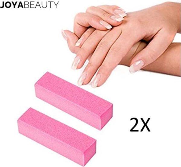 2x Nagel buffer blok van La Joya | nagel buffer | bufferblok roze | Voor opruwen en ontvetten nagels