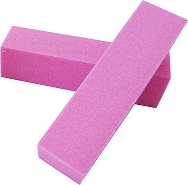 2x nagel buffer blok / nagel buffer / bufferblok, roze. Voor opruwen / ontvetten natuurlijke nagel t.b.v. kunstnagels.