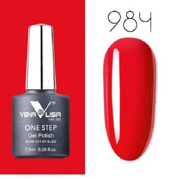 3-in-1 UV Gel Polish One Step Soak Off Gellak Rood 984