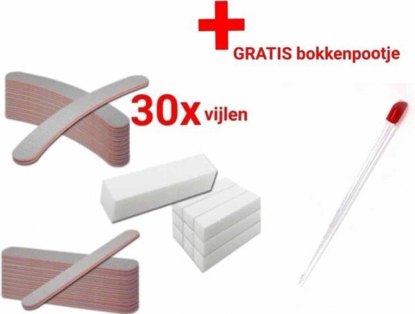 30x Nagel Vijlen - 100 / 180 GRIT - Kunstnagels - boomerang Vijl - bufferblok - polijstblok- - banaan - High Quality - Professionele markt - gellak - shellac - nagels - nagelverzorging - acrylnagels - gelnagels