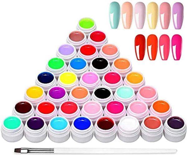 36 kleuren UV-kleurengel, Anself UV-gel-set gelkleuren voor nagels, nail art-kleurengel-set, gelnagels kleuren, nagellak nagellak voor nail art nagelontwerp