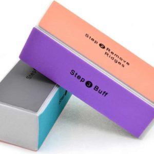 4 in 1 Multi-Stappen Nagel Polijst Blok Set Voor Blinkende Nagels Zonder Nagellak | Set van 4 Stuks