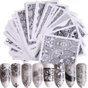 40 Stuks Nail Art Water Transfer Stickers - Nagelversiering - Nageldecoratie - Nagelstickers