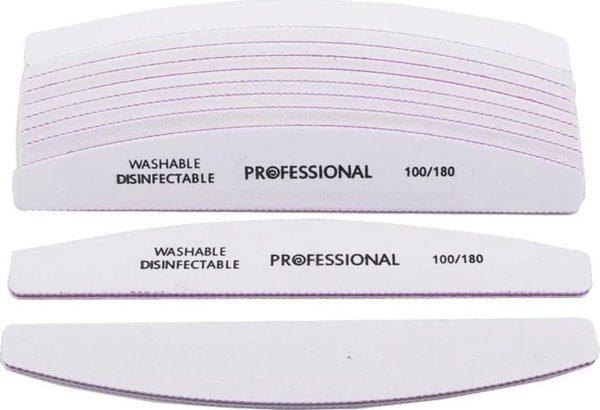 5 stuks Nagelvijl Zebra vijl Moon 100/180 grit - Grof / Zachte Vijl - Hoge kwaliteit - Professionele - Nagelvijlen - Maan - Gelnagels - Nagelverzorging - Banaan - Acrylnagels - Moonvijl - Shellac - High Quality - Kunstnagels - Manicure