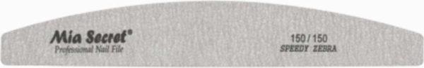 5 x Mia Secret Professional Half Moon - ZEBRA - Boomerang Vijl 150/150