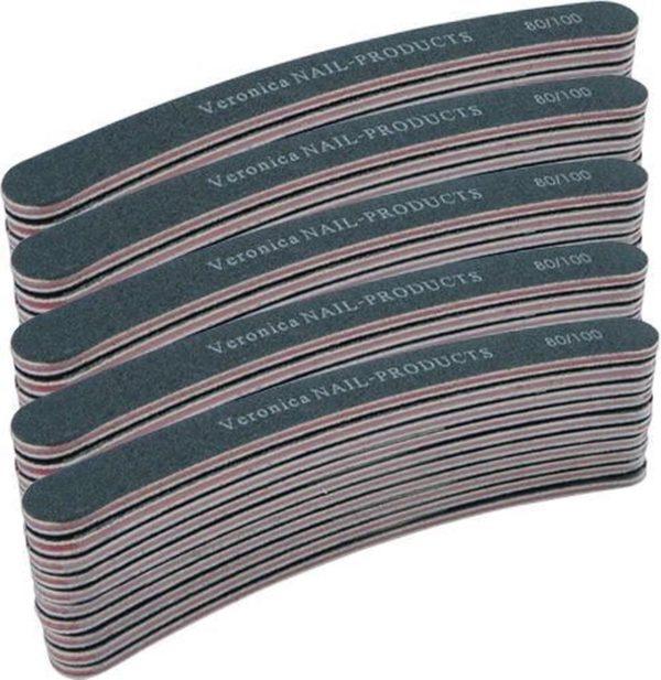50x banana nagelvijl # 80/100, zwart voor nagelstyliste & pedicure! Afvijlen / afwerken / verwijderen van de kunstnagel. Zowel v