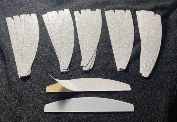 75 stuks Hygiëne vijlen Half Moon Zebra Vijl 100+150+180 grit nu met tijdelijk 3 gratis Kunststof houder