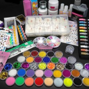Acrylnagels Starters Pakket Medium | 123 delig | 92 Colors | Acryl Nagels set | Acryl Starter Kit | Nail Art Pakket | 500 Franse Nageltips | Manicure Set voor Nail Art Kit | Nagel Decoratie | Acryl Poeder | Acryl Vloeistof