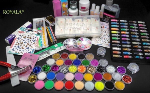 Acrylnagels Starters Pakket Medium   123 delig   92 Colors   Acryl Nagels set   Acryl Starter Kit   Nail Art Pakket   500 Franse Nageltips   Manicure Set voor Nail Art Kit   Nagel Decoratie   Acryl Poeder   Acryl Vloeistof