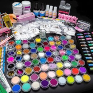 Acrylnagels Starters Pakket Premium | 170 delig ! | 126 colors | Acryl Nagels set | Acryl Starter Kit | Nail Art Pakket | 500 Franse Nageltips | Manicure Set voor Nail Art Kit | Nagel Decoratie | Acryl poeders | Acryl vloeistof