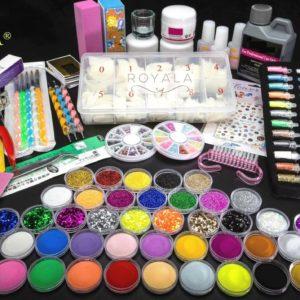 Acrylnagels StartersPakket |B| 120 delig | 90 Colors | Acryl Nagels set | Acryl Starter Kit | Nail Art Pakket | 500 Franse Nageltips | Manicure Set voor Nail Art Kit | Nagel Decoratie | Acryl Poeder
