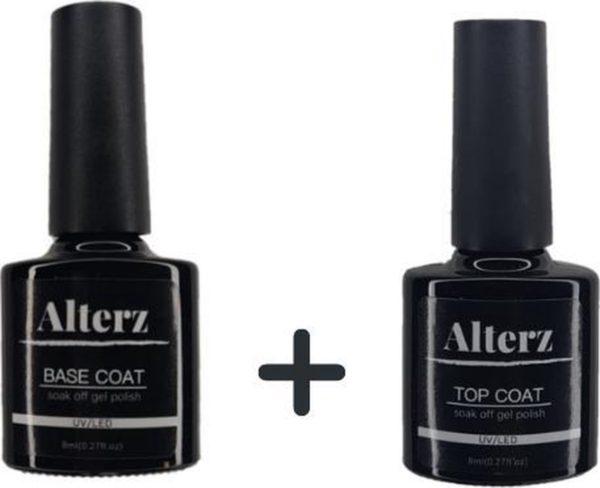 Alterz Base & Top Coat - 2x 8ML - Gel Nagellak - Gellak - Base Coat - Top Coat - UV gellak set - Nagellak set