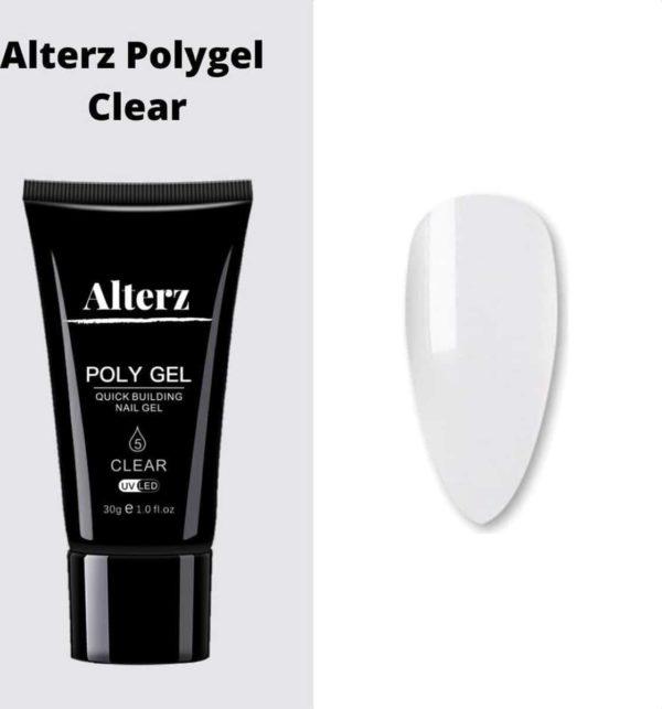 Alterz Polygel Clear - Polygel nagels - Polygel kleuren - Transparant - 30ml