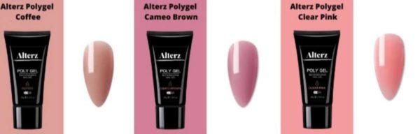 Alterz Polygel Coffee- Cameo Brown - Clear Pink - Polygel nagels - Polygelset X3 30 ML - Polygel kleuren - Polygel producten