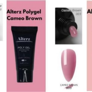 Alterz Polygel Coffee- Cameo Brown - Clear Pink - Polygel nagels - Polygelset X3 30 ML - Polygel kleuren - Polygel producten