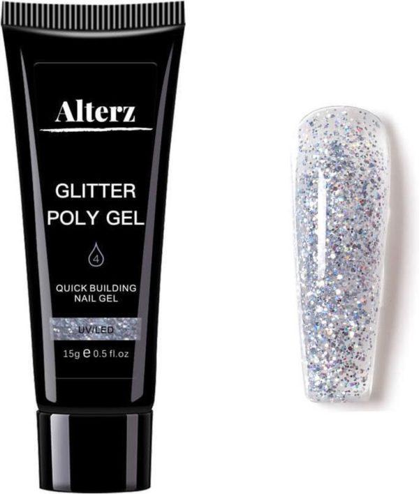 Alterz Polygel Glitter Icy - Polygel nagels - Polygel kleuren - Glitter - 15ml