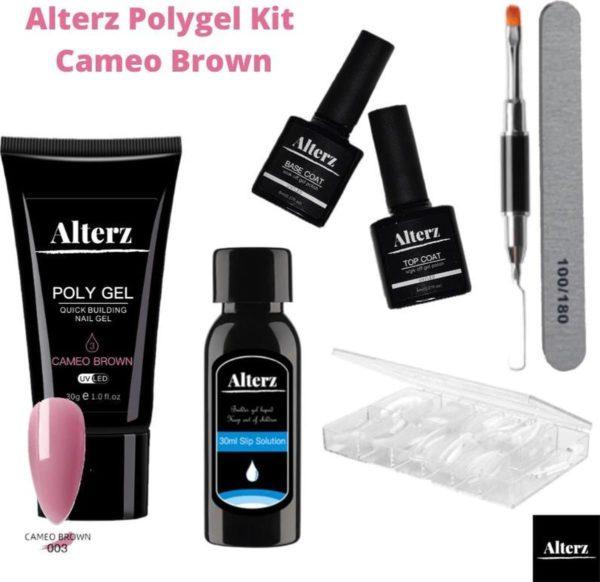 Alterz Polygel Kit Cameo Brown - Polygel nagels starterspakket - Polygel nagels - Polygel set - Polygel starterspakket - 30ml