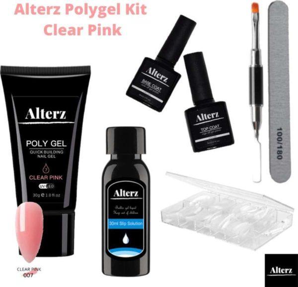 Alterz Polygel Kit Clear Pink - Polygel nagels starterspakket - Polygel nagels - Polygel set - Polygel starterspakket - 30ml