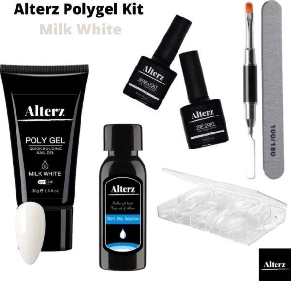 Alterz Polygel Kit Milk White - Polygel nagels starterspakket - Polygel nagels - Polygel set - Polygel starterspakket - 30ml