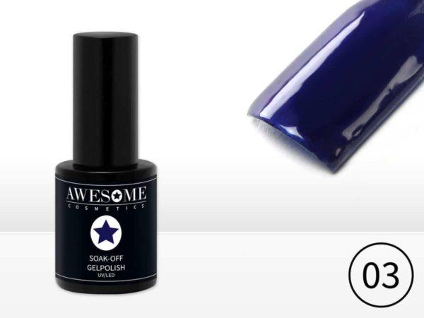 Awesome #03 Jeans Blauw Gelpolish - Gellak - Gel nagellak - UV & LED