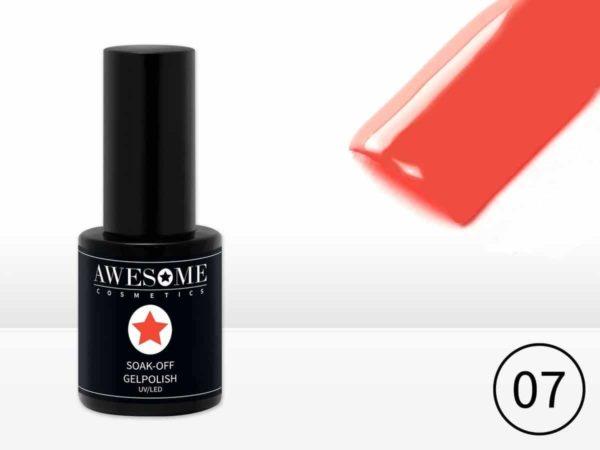 Awesome #07 Neon Koraal Gelpolish - Gellak - Gel nagellak - UV & LED
