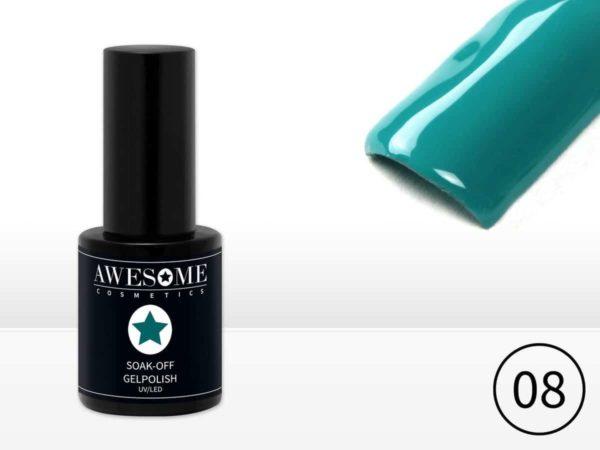 Awesome #08 Zee Groen Gelpolish - Gellak - Gel nagellak - UV & LED