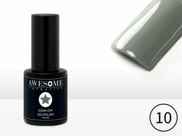 Awesome #10 Grijs Gelpolish - Gellak - Gel nagellak - UV & LED