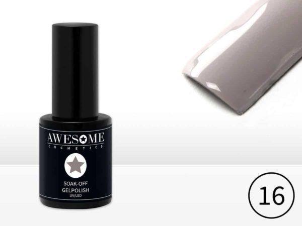 Awesome #16 Grijs/ Licht / Nude Gelpolish - Gellak - Gel nagellak - UV & LED