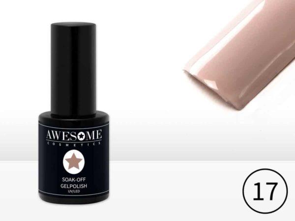 Awesome #17 Nude Gelpolish - Gellak - Gel nagellak - UV & LED