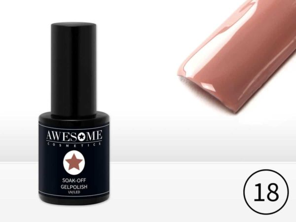 Awesome #18 Nude Gelpolish - Gellak - Gel nagellak - UV & LED