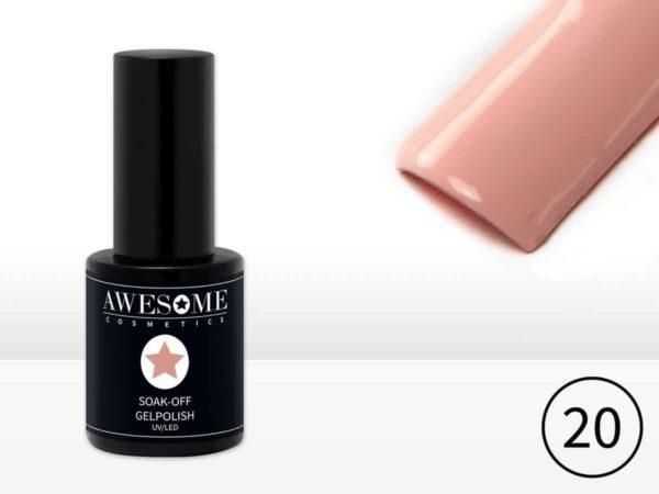 Awesome #20 Roze Licht Gelpolish - Gellak - Gel nagellak - UV & LED
