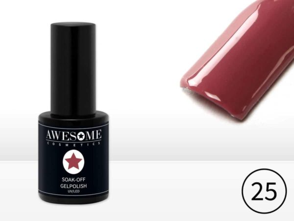 Awesome #25 Paars/Bruin Gelpolish - Gellak - Gel nagellak - UV & LED