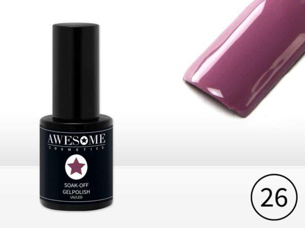 Awesome #26 Paars Gelpolish - Gellak - Gel nagellak - UV & LED