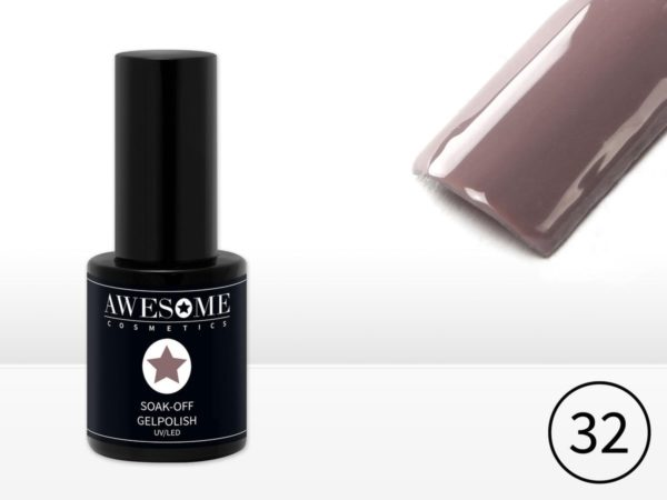 Awesome #32 Taupe Gelpolish - Gellak - Gel nagellak - UV & LED